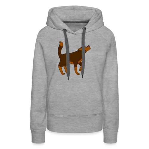 KR ASMR Howling Wolf - Women's Premium Hoodie