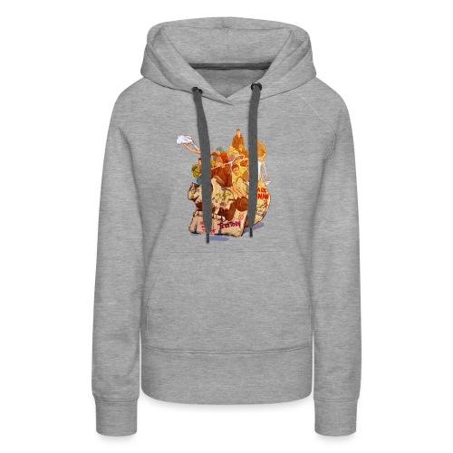 Skull & Refugees - Women's Premium Hoodie