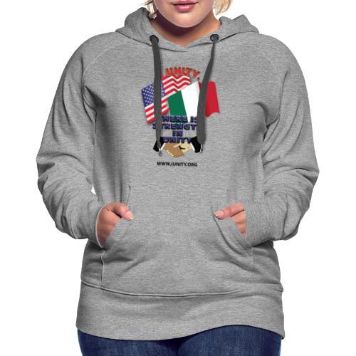 italy flagE01 1 - Women's Premium Hoodie