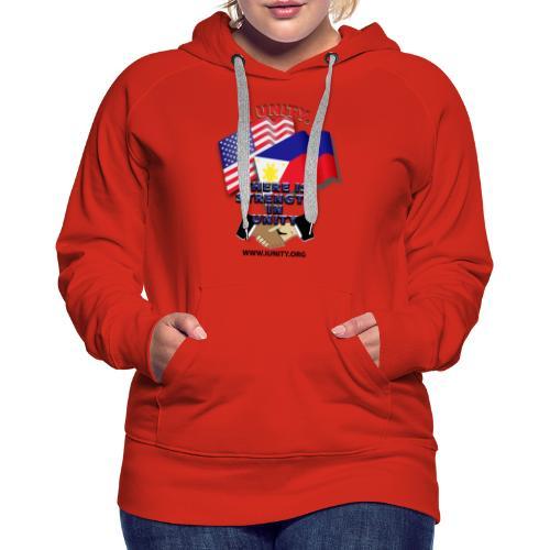 UnityPhilippinoUSA E02 - Women's Premium Hoodie