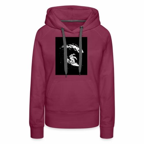 Astronaut Surf tshirt 01 HQ 01 - Women's Premium Hoodie