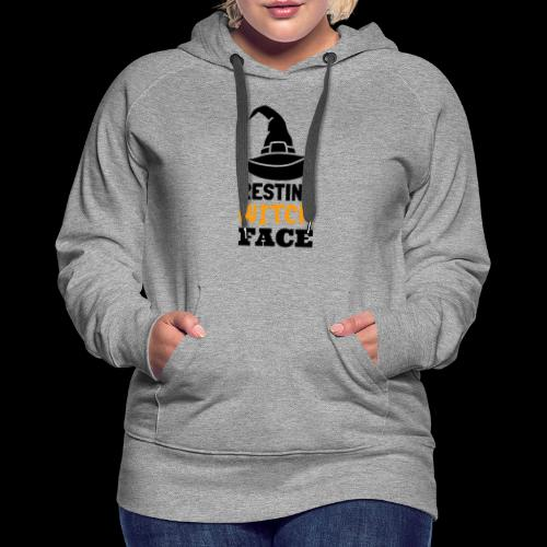 Resting Witch Face | Funny Halloween - Women's Premium Hoodie
