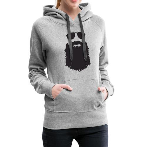 Beardy Silhouette - Women's Premium Hoodie