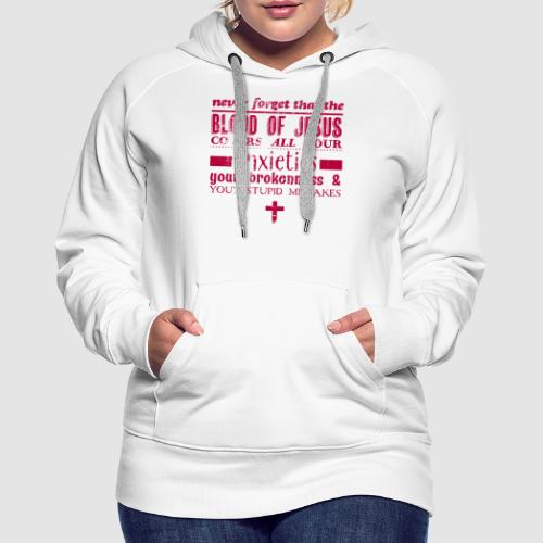 Blood of Jesus - Women's Premium Hoodie