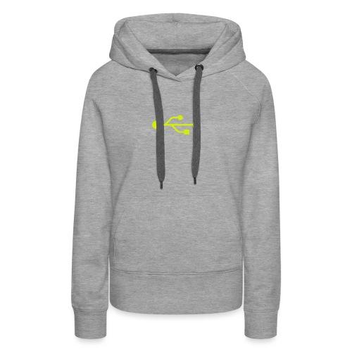 Yellow USB Logo Mid - Women's Premium Hoodie