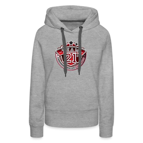 Team 21 - Chromosomally Enhanced (Red) - Women's Premium Hoodie