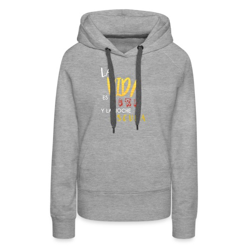 Life is hard and the night dark - Women's Premium Hoodie