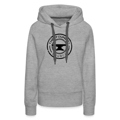 Foundry Church Logo Distressed black 12 in - Women's Premium Hoodie