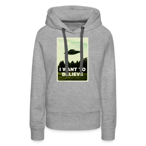 i want to believe (t-shirt) - Women's Premium Hoodie