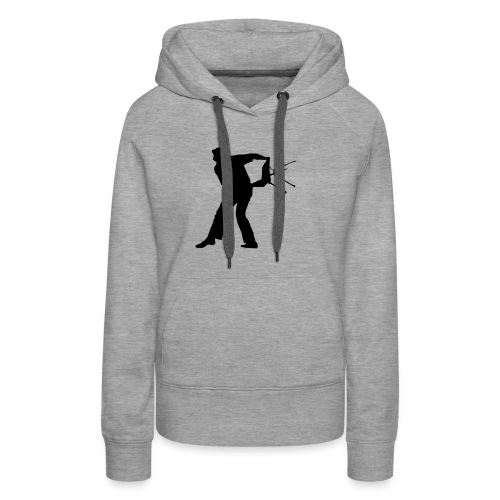 Chair Throwing Black - Women's Premium Hoodie