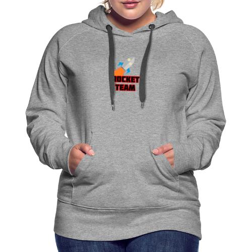 Rocket Team Logo Red Text - Women's Premium Hoodie