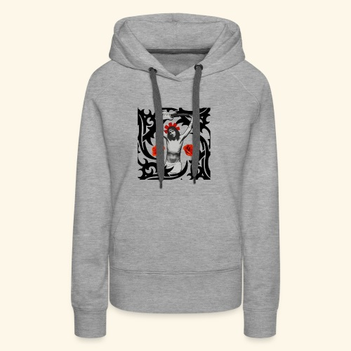 Jesus Frusciante Logo - Women's Premium Hoodie