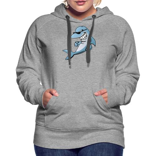 Dolphin Cartoon - Women's Premium Hoodie