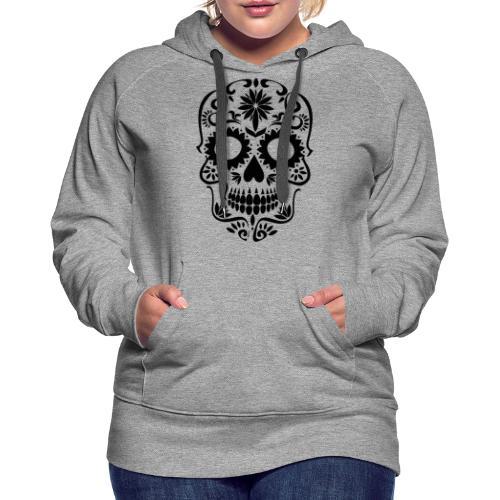 Black drawn skull - Women's Premium Hoodie