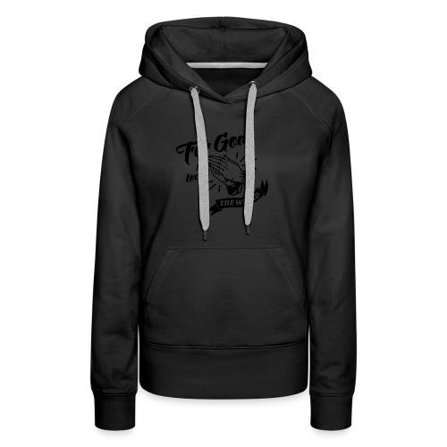 For God So Loved The World… - Alt. Design (Black) - Women's Premium Hoodie