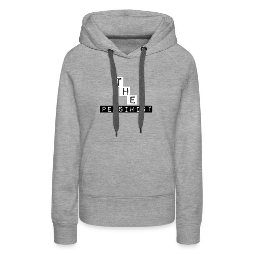 The Pessimist Abstract Design - Women's Premium Hoodie