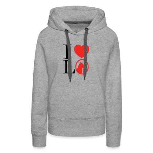 I heart L O - Women's Premium Hoodie