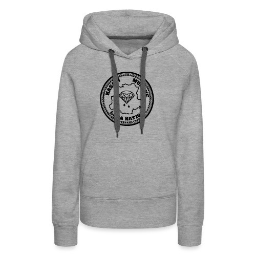 Luba Nation Kasayi Munene Coin Design (Black) - Women's Premium Hoodie