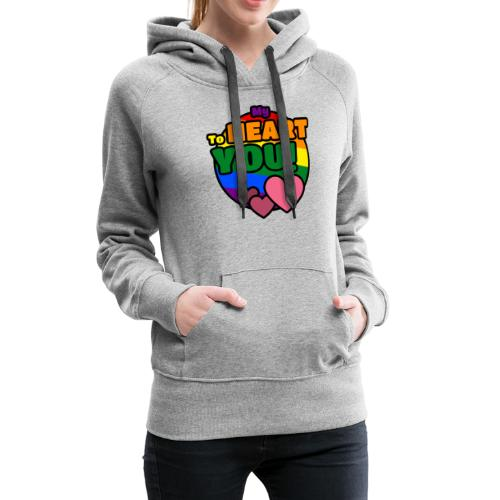 My Heart To You! I love you - printed clothes - Women's Premium Hoodie