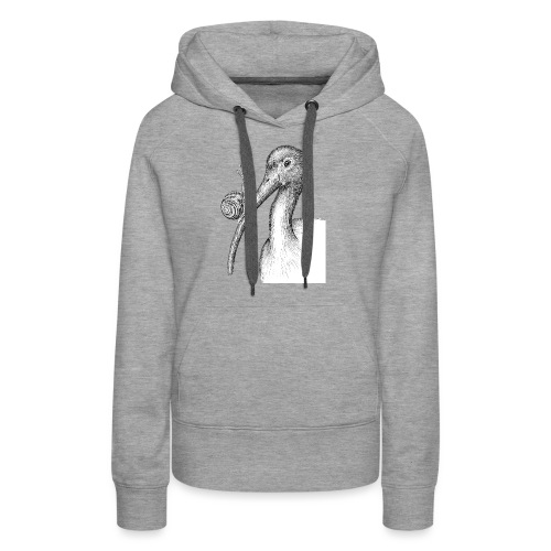 Ibis with Snail by Imoya Design - Women's Premium Hoodie