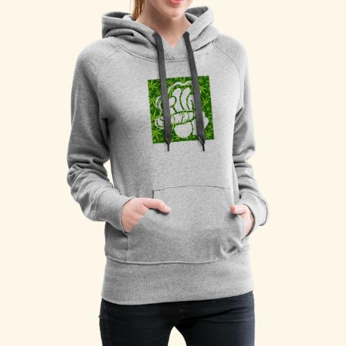Hand with a joint - smoking weed 420 lifestyle - Women's Premium Hoodie