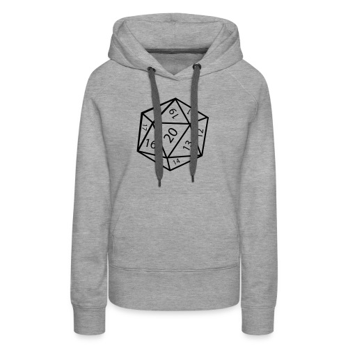 20_sided_dice - Women's Premium Hoodie
