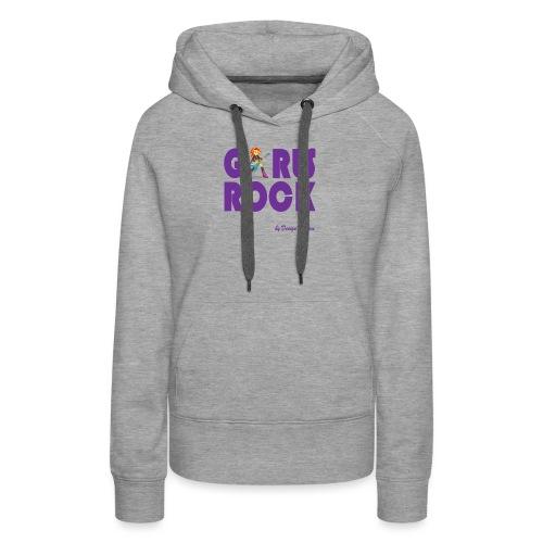 GIRLS ROCK PURPLE - Women's Premium Hoodie