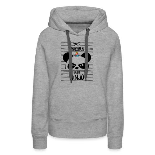 Unircorn Panda Ninja - Women's Premium Hoodie