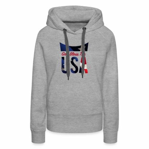 God Bless The USA Veterans T-Shirts - Women's Premium Hoodie