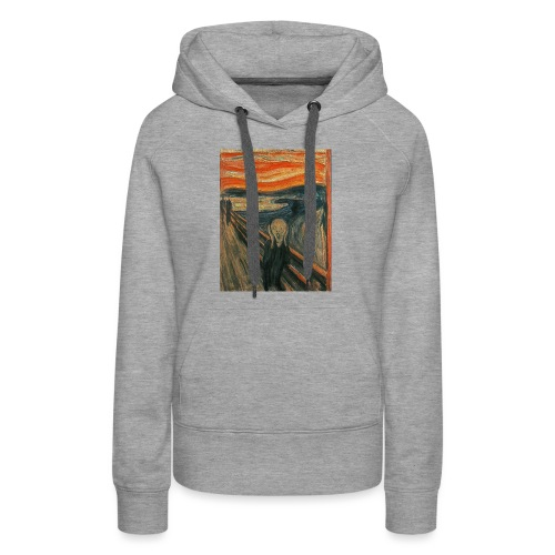 The Scream (Textured) by Edvard Munch - Women's Premium Hoodie
