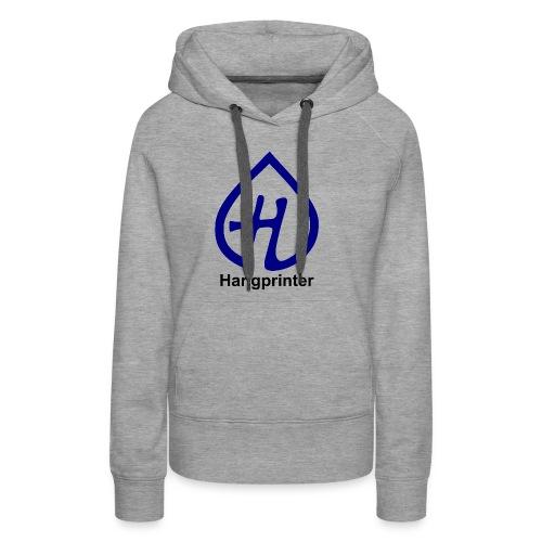 Hangprinter Logo and Text - Women's Premium Hoodie