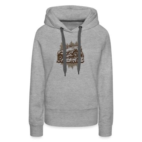 Monster Truck Grungy - Women's Premium Hoodie
