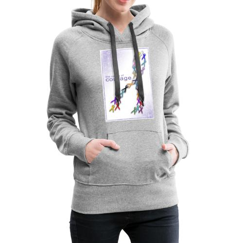 The Colors of Courage Cancer Awareness Ribbons - Women's Premium Hoodie