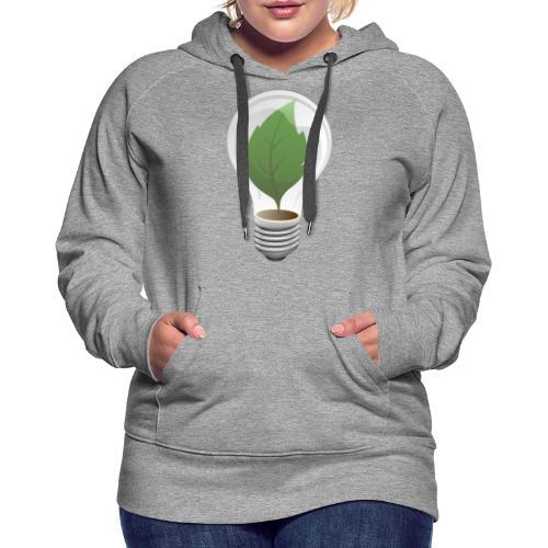 Clean Energy Green Leaf Illustration - Women's Premium Hoodie