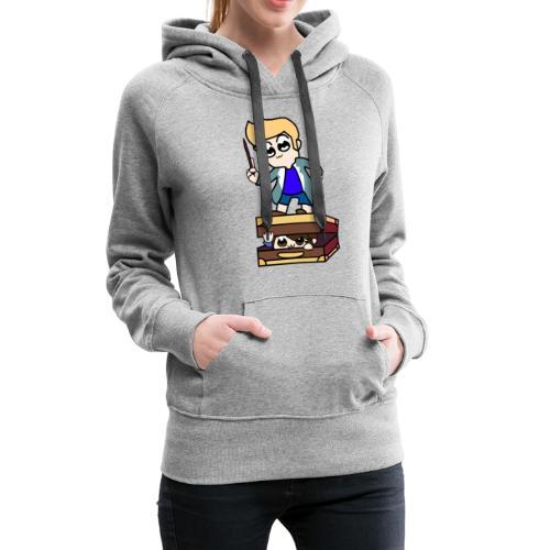 Pop Team Cohen - Women's Premium Hoodie