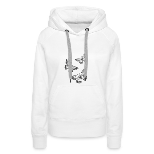 be_you_tiful_grey_white_text - Women's Premium Hoodie