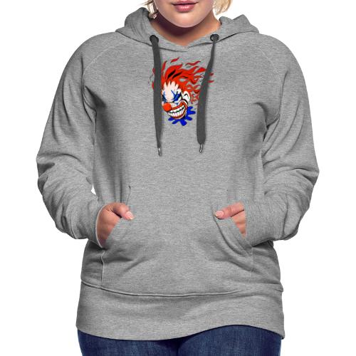 Psycho Crazy Clown Cartoon - Women's Premium Hoodie