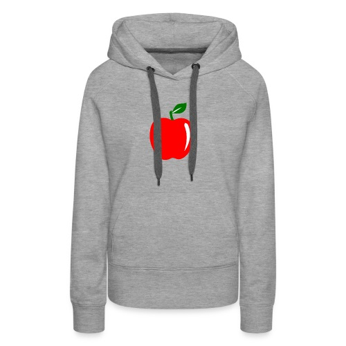 Teacher Apple Minimalist - Women's Premium Hoodie