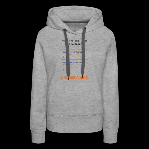 Code Styling Preference Shirt - Women's Premium Hoodie
