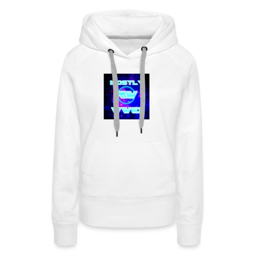 mostly wwe! space logo - Women's Premium Hoodie