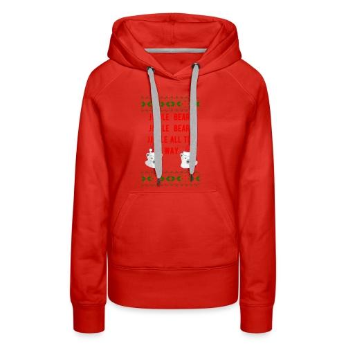 Jingle Bear (Red Text) - Women's Premium Hoodie