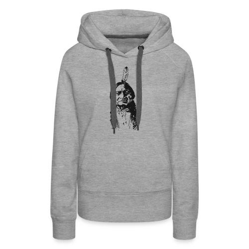 Vintage Indian Native American Funny - Women's Premium Hoodie