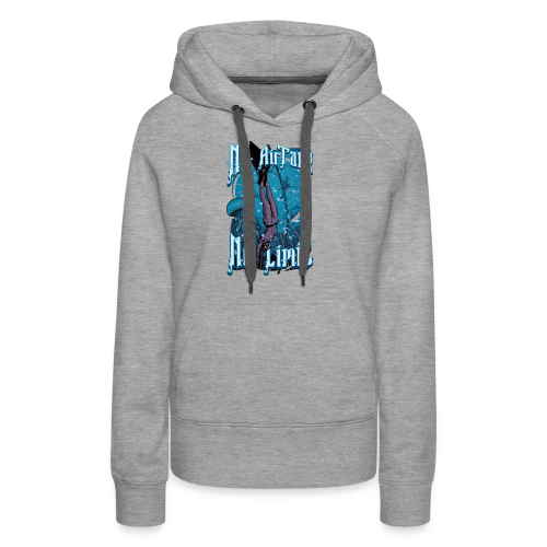 No Air Tank No Limit Freediving merchandise - Women's Premium Hoodie