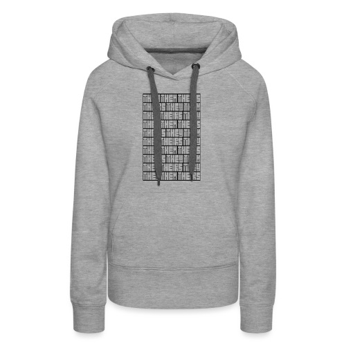 They Them Theirs (Repeating Block) - Women's Premium Hoodie