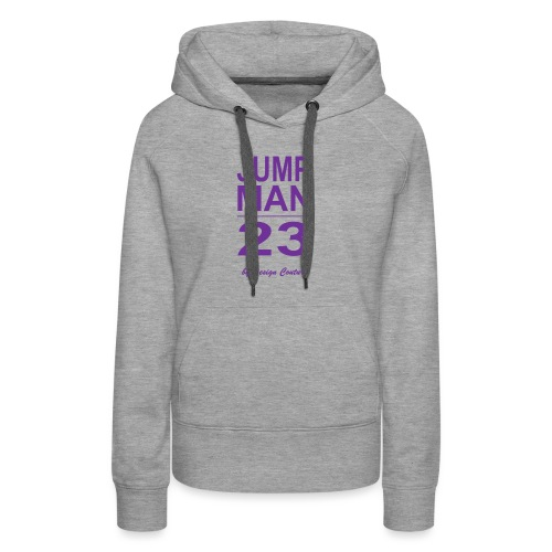 JUMP MAN 23 PURPLE - Women's Premium Hoodie