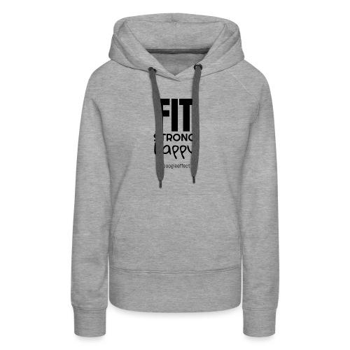 fit strong happy black - Women's Premium Hoodie