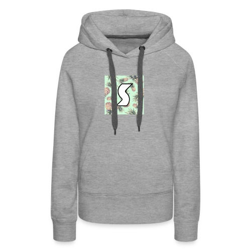 Scorch Pineapple Logo Design - Women's Premium Hoodie