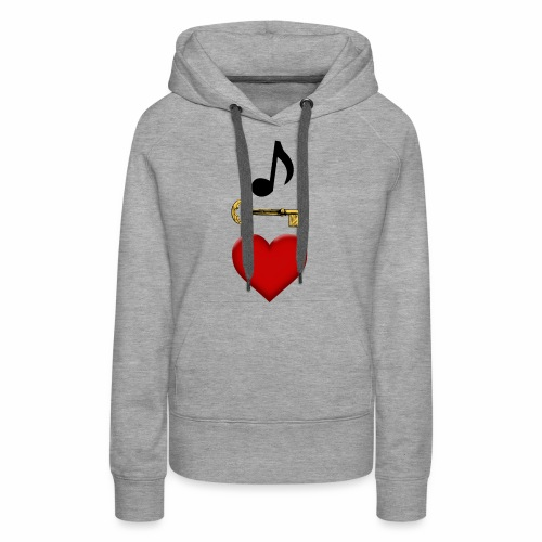 Music is Key to My Heart - Women's Premium Hoodie