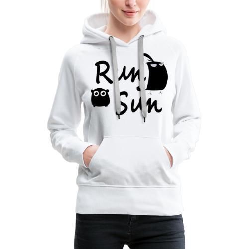 Run Sun Logo - Women's Premium Hoodie
