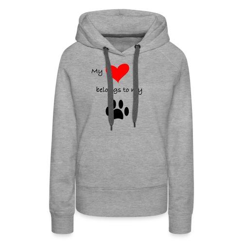 Dog Lovers shirt - My Heart Belongs to my Dog - Women's Premium Hoodie